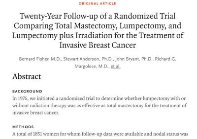 Evidence for the current management of breast cancer for surgeons, registrars, residents, interns and medical students