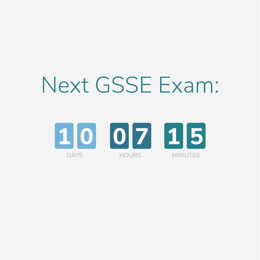 Next GSSE Exam - generic surgical sciences exam date